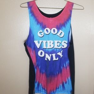 Large Good vibes only tank top